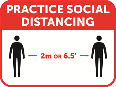 "Social Distancing Decal - 16"" x 12"""