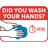 "Hand Washing Decal - 16"" x 12"""