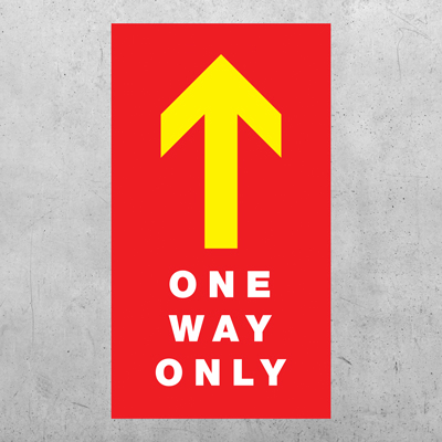 "One Way Arrow Floor Decal - 10"" x 24"""